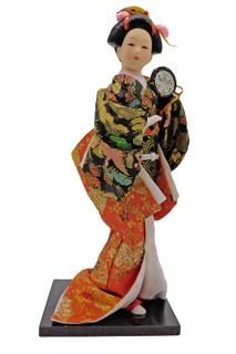 Japanese Geisha Doll with Drum