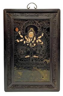 Oriental Glass Wall Panel of Tara Guanyin Bodhisattva