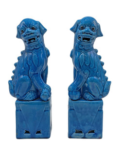 Pair of Oriental Ceramic Foo Dogs