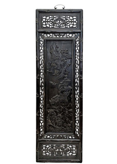 Oriental Wall Panel Wood Carving Landscape