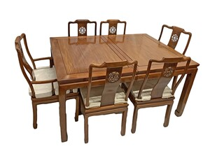 Ming Style Honey Rosewood Dining Room Set