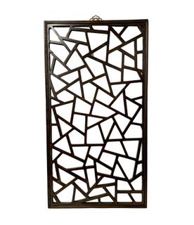 Oriental Carved Elm Wood Panel