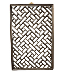 Chinese Carved Elm Wood Diagonal Rectangle Panel