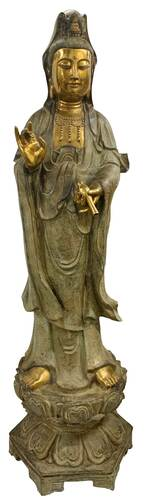 Bronze Goddess Statue 62 Inches High
