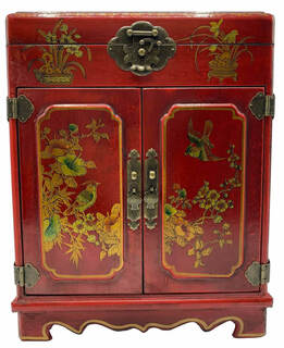 Oriental Mirror Jewelry Box