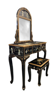 Mother of Pearl Vanity with Stool