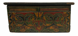 Tibetan Worship Altar With Sliding Door Storage