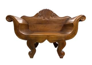 Elmwood Asain Carved Throne Chair