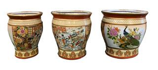 Japanese Satsuma Peacock Vase