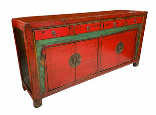Mongolian 2 Tone Red and Black Buffet