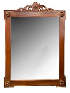 Mahagony Empire Hand Carved Mirror