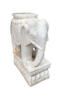 Oriental Stone Marble Statue Elephant