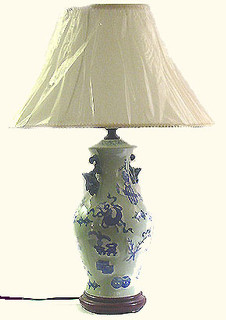 26 inch tall Chinese porcelain Lamp. FREE SHIPPING