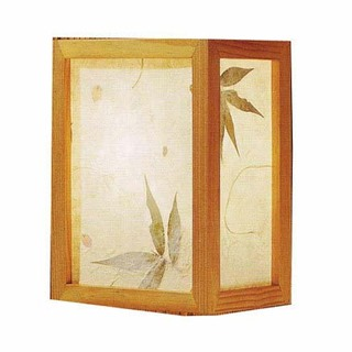 "10""H.Nikko Oriental Wall Lamp with a Bamboo and Flower Petals Design Botanic Shade, In line on /off switch and Wall Mounting Kit"