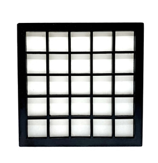 "12""H. Black Wooden Checkered Frame Dofu Japanese Wall Lamp, In line on /off switch and Wall Mounting Kit"