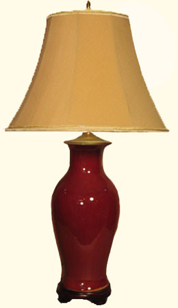 Oxblood Fishtail Lamp