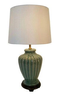 Celadon Fluted porcelain Lamp