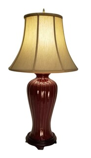 Red Porcelain Table Lamp