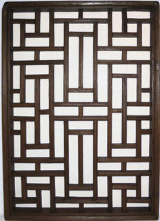 Antique wooden window panel