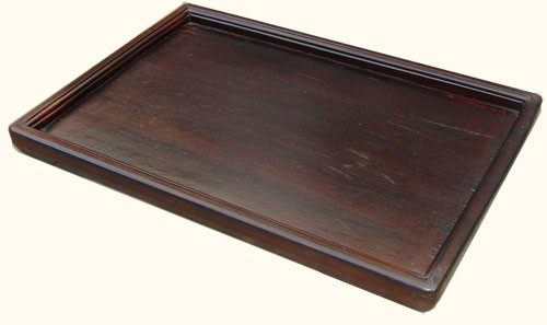 21 by 13 inch antique beechwood serving tray