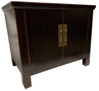 "Two Door Antiqued Cabinet End Table 23""H"