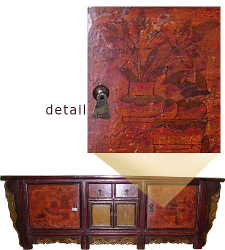Antique four door three drawer Low Boy  sc 1 st  Oriental Furnishings & Antique Oriental Storage Chest with Doors and Drawers 21u0027u0027H ...