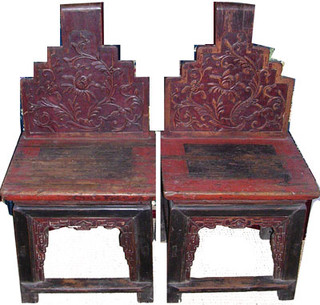 Antique Yuann 2 piece chair set