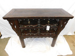Chinese iron handled chest of drawers