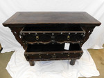 Antique Chinese iron handled chest of drawers