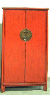 Tapered Red Armoire