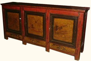 Korean chest with brass and altar top with drawers and for Sideboard x7