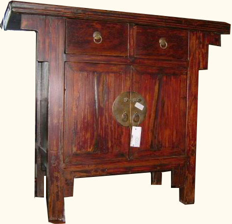 Antique Shan Dong cabinet. 2 drawers, 2 doors - Antique Chinese Cabinet Ming Style With 2 Drawers And 2 Doors 37