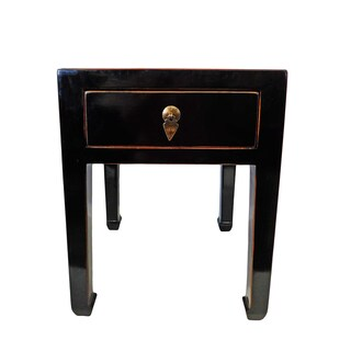 Lipstick red Sui Chang Antique one drawer stool