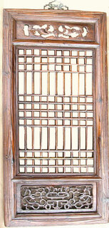 Hand Carved  Chinese Antique Window Panel, Artfully detailed.