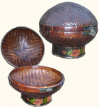 Antique lidded basket