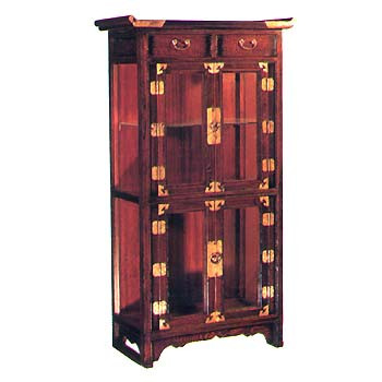 24.8 inch wide glass display cabinet