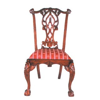 21 inch wide Gothic Chippendale  dining room chair