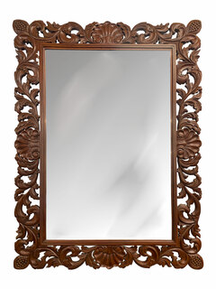Wooden Mirror Hand Carved French Style