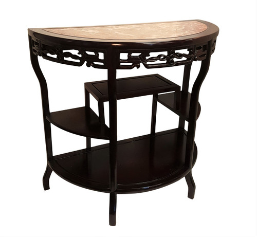 Half Round Marble Top Table