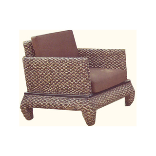 Asian Rattan Banana Leg Living Room Chair