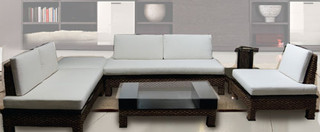 Asian Modern 5 piece living room set