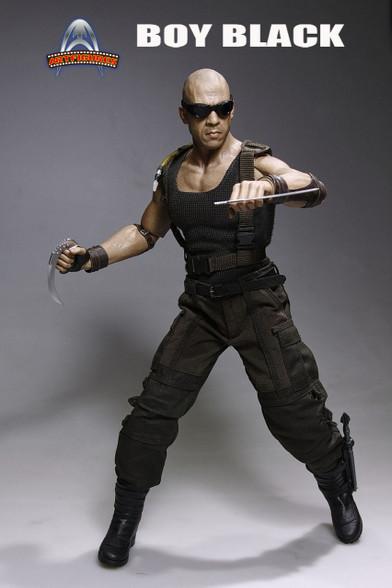 Art Figure Af-018 Vin Diesel Riddick Black Boy 16 Scale Action Figure-2786