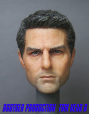 Brother Production Custom 1/6 Scale Head Sculpt-Tom Cruise Ver  B
