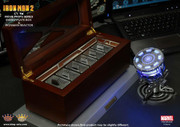 King Arts 1/1 Movie Props Series MPS001 Ironman 2 - Energyplate Wood Box + Arc Reactor set