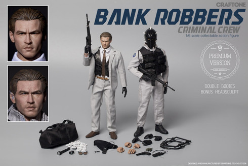CRAFTONE 1/6 Bank Robbers - Criminal Crew Action Figure-Premium Ver.