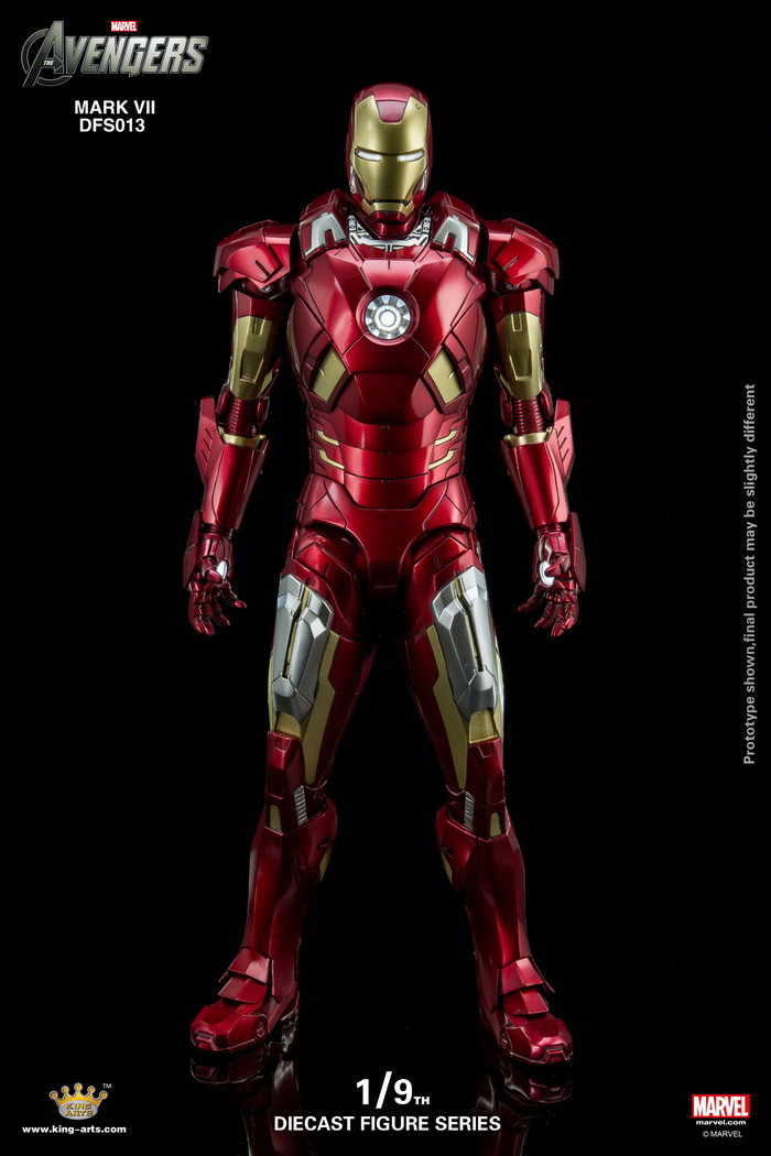 King Arts 19 Diecast Figure Series Dfs013 Iron Man Mark 7 Action