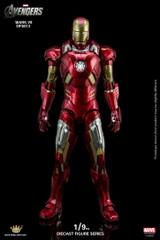 King Arts 1/9 Diecast Figure Series DFS013 Iron Man Mark 7 Action Figure