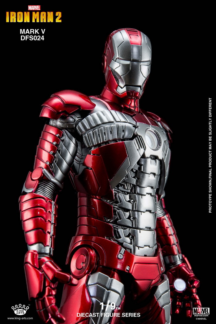 King Arts 19 Diecast Figure Series Dfs024 Iron Man Mark 5 Action