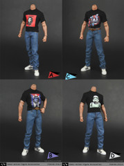 ZYTOYS 1/6 scale Male T-shirts and Jeans set-4 model