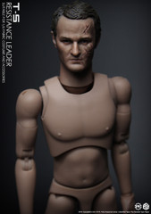 CGLTOYS PE03 T5 Connor resistance leader head sculpt x2 +narrow shoulders male body